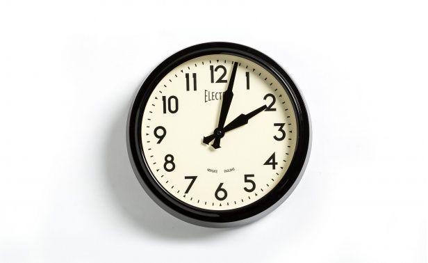 Coco Republic 50s Wall Clock - Black