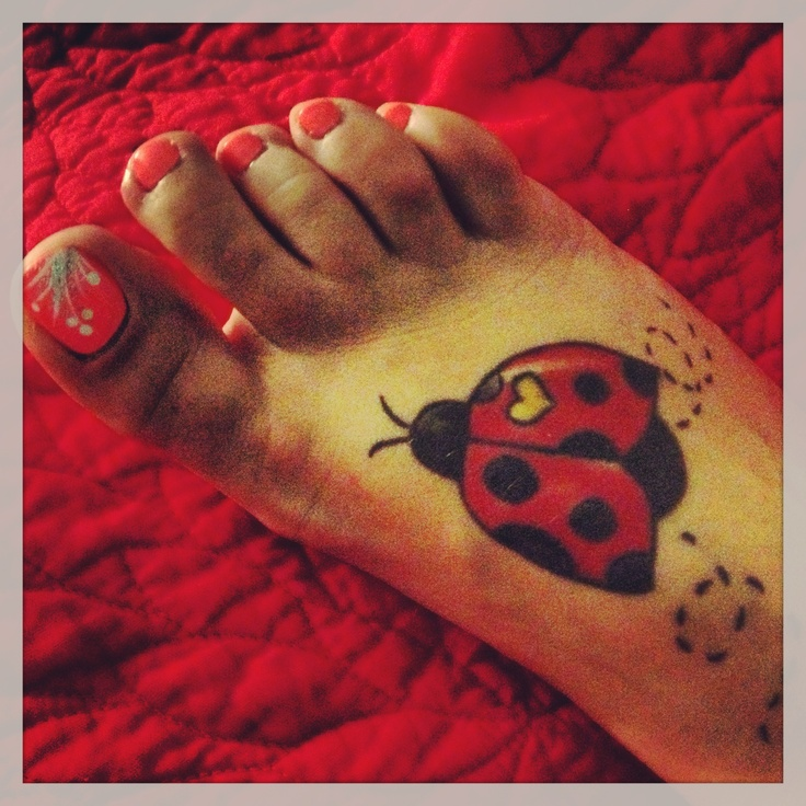 17 best images about lady bug tattoos on pinterest lady for Ladybug heart tattoos