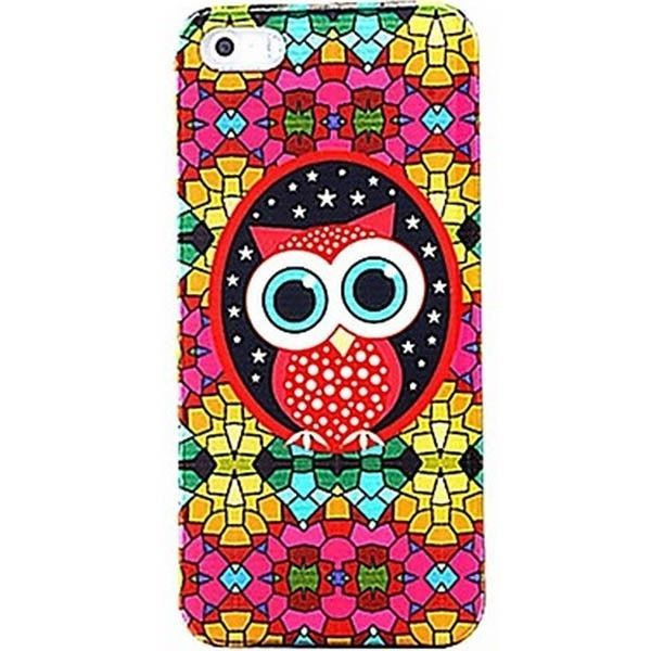 Artistic Colorful Mozaic Owl Design Back Case for Iphone 5/5s #ChinaBrand