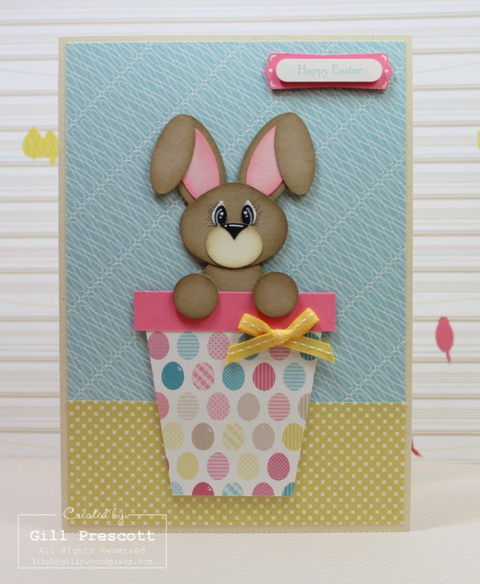 Quick and easy punch art Easter bunny and tutorial…   Lily-by-Gilly