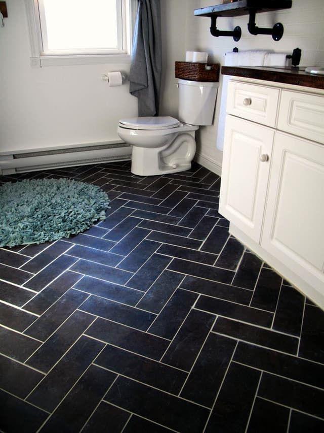 240 best flooring ideas tips images on pinterest homes for Cheap bathroom vinyl flooring