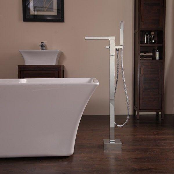 Sanctuary Waterfall Freestanding Bath Shower Mixer | Waterfall Bathroom Taps | Better Bathrooms