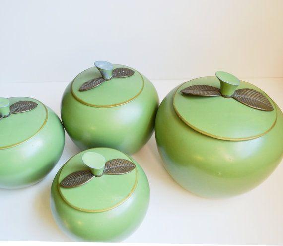 Apple Kanister Green Apple Kanister Aluminium Kanister Apple Dosen Kanister Apple Green grün Küche Grüner Apfel