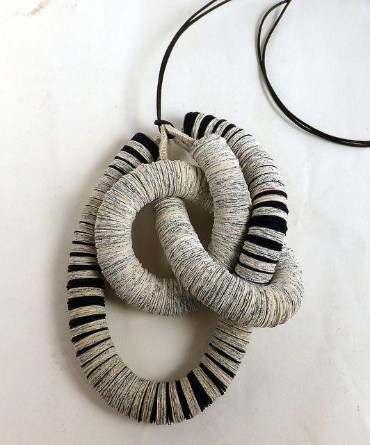 Fibonacci necklace knotted up liz hamman effemera