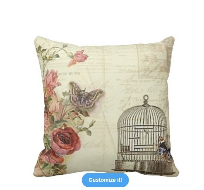 Vintage Victorian Bird Cage Throw Pillow at: http://www.zazzle.com/vintage_with_roses_bird_cage_pillow-189440684349569118?rf=238623693837530845