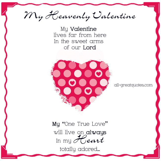 True Love Valentine Quotes: My Valentine Lives Far From Here