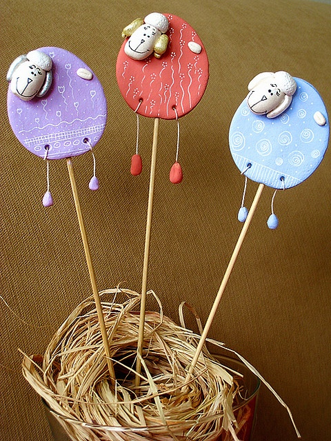 Easter rams II by Stylishornaments and Crafts, via Flickr