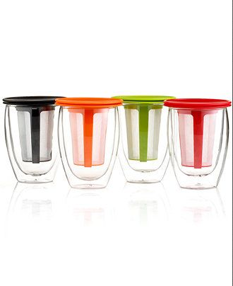 Bodum tea glass with infuser — create your own tea for two!