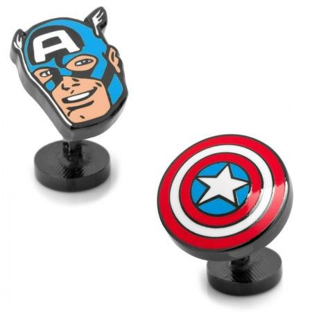 Officially licensed Captain America Comics Pair Cufflinks by Marvel. Available only at CUFFZ.com.au