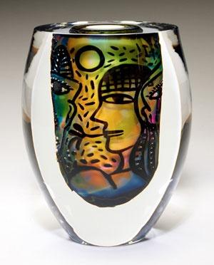 Ulrica Hydman-Vallien, Romance, 2001. Collection Rockford Art Museum, Illinois