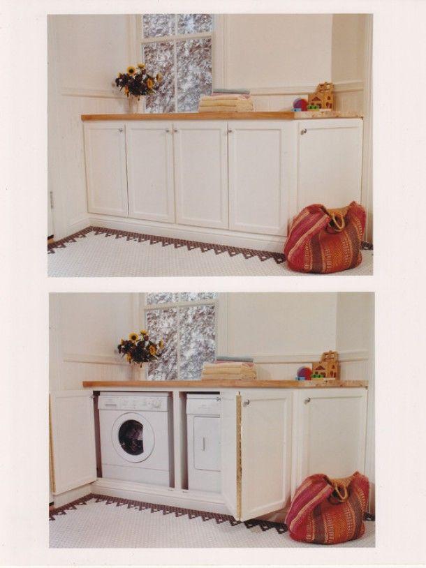 Kleine badkamer | mooi verborgen wasmachine Door Ledden