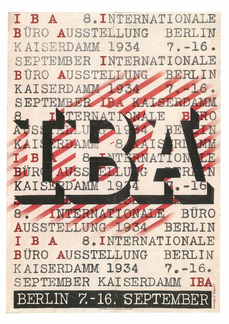 160. HERBERT BAVER (1900-1985) IBA. lnternationale Büro Ausslellung. Berlín Kaiserdam 1934 (IBA. Exposición internacional de oficinas. Berlln Kaisordam 1934).1934