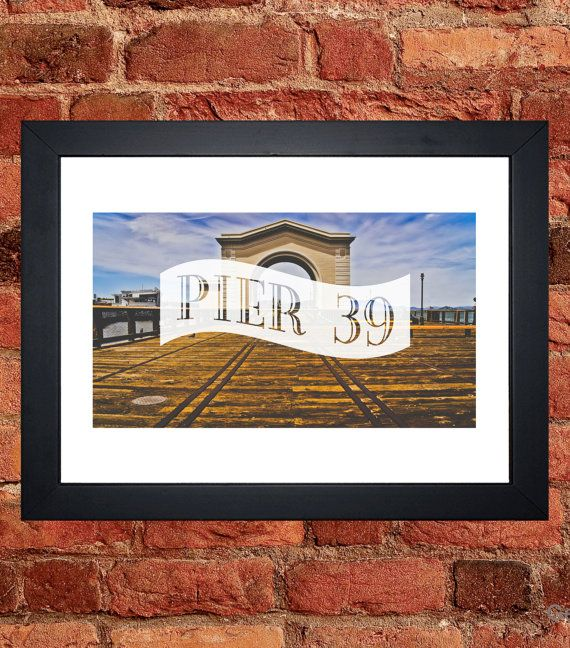 Pier 39 San Francisco Print - Digital download.