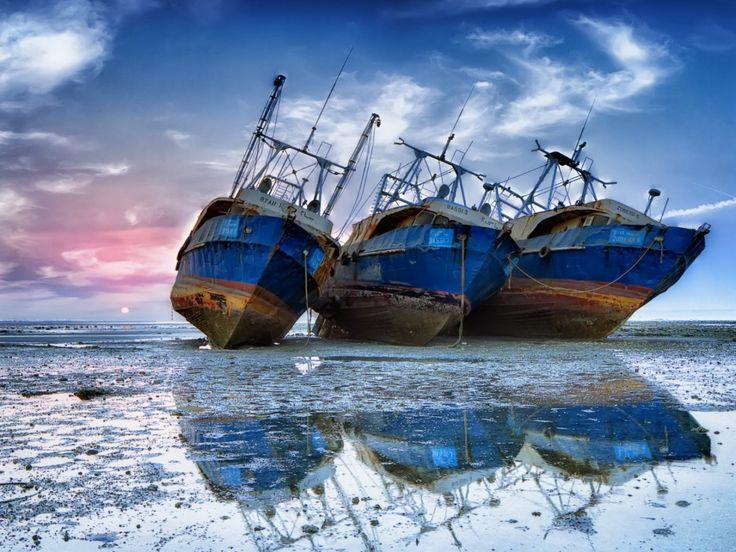 moře obrázky, lodě na plochu, pletl pozadí