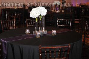 black wedding reception linens - Google Search