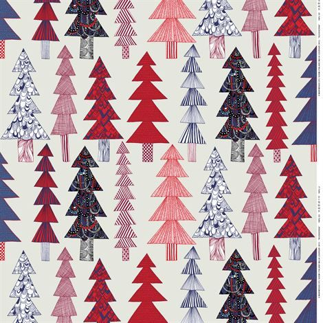 Kuusikossa Finnish tree fabric