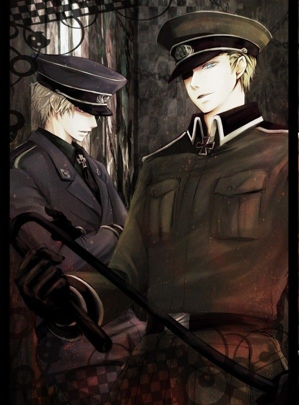 """Germany be like: """"Hey, I'm Germany, you see this svexy mofo over here? That's my bro. You mess vith him and you von't have a face anymore."""" --I don't know"""