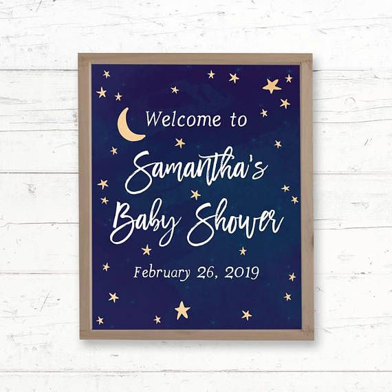 DIGITAL star baby shower decorations PRINTABLE little star baby shower chalkboard Twinkle Little Star Baby Shower Welcome Sign
