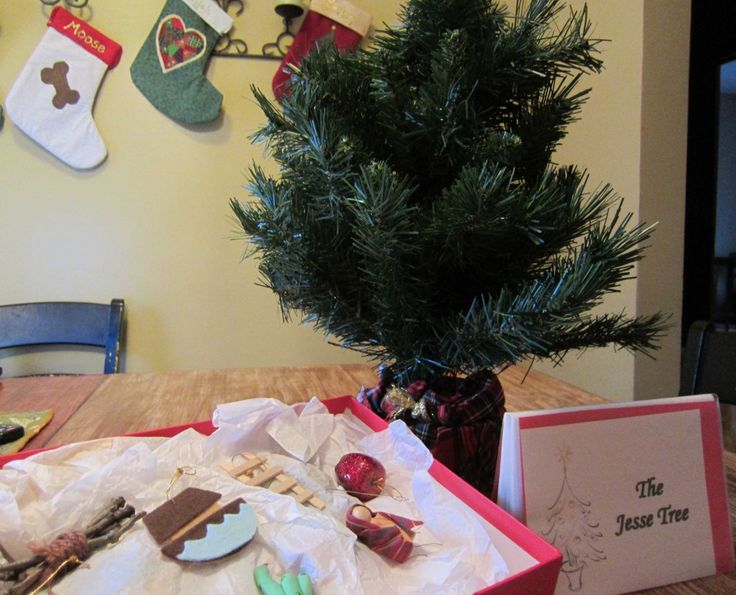 Our jesse tree set free printable ornaments and for How did the christmas tree tradition start