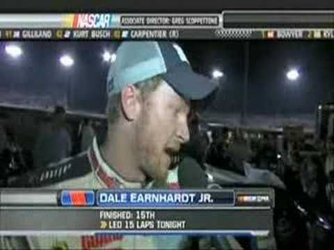 Post Race Talk after Kyle Busch spins Dale Jr. at Richmond.. Wasn't happy about that Kyle Busch piece of crud wreck my Jr. ON PURPOSE!!!! Punk!