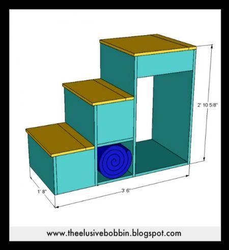 Escaleras de almacenamiento de una litera o cama del desván