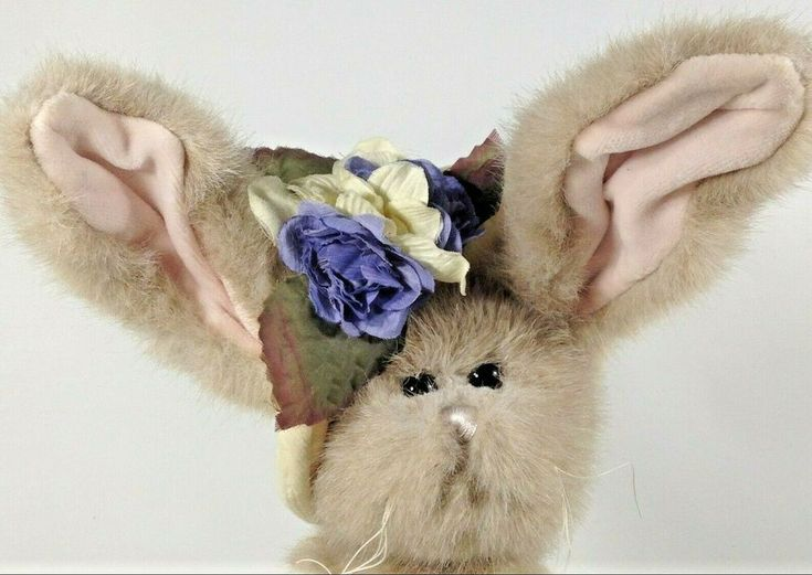 Bearington Collection TULIP & DUCKY Bunny Rabbit Duck Duckling 14″ Plush  #Beari…