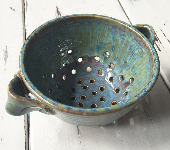 Ceramic Berry Bowl in Handmade Pottery Berry Bowl by BungalowSPC