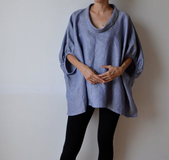 This linen smock frock / top was inspired by a 1960s Balenciaga opera coat. It has a stunning, voluminous silhouette which is so sophisticated. Depending on what you wear on the bottom, this piece transforms completely. Pop it over leggings and ballerinas for a shopping trip or pair it with tailored pants and a heel for something more formal. The fabric is a luxurious, Italian linen that gives an incredible shape. The low scoop neck line has a bias collar which can be worn popped up or…