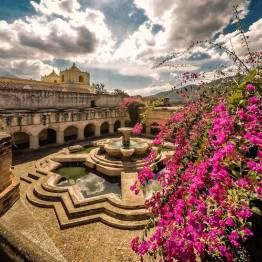 Fountain in La Merced Church in La Antigua Guatemala. Photo by Marcelo Jimenez.   ONLY THE BEST OF GUATEMALA