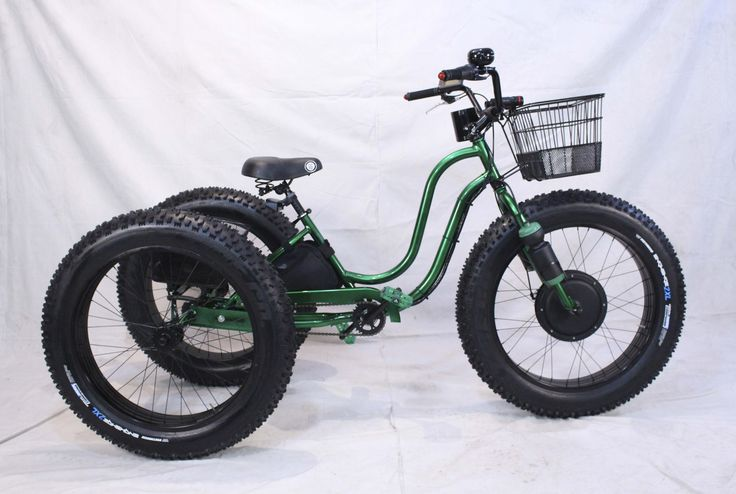 Electric Fat Tire Trike Adult Tricycle GREEN APPLE www.fattiretrike.com