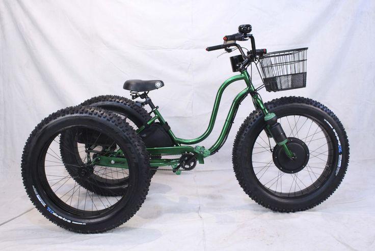 Electric Fat Tire Trike Adult Tricycle GREEN APPLE www.fattiretrike.com