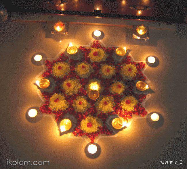 Rangoli Karthigai deepam rangoli Regular   www.iKolam.com ...