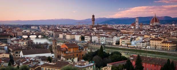 Udsigten over Firenze og Ponte Veccio fra Piazzale Michelangelo. Foto: Benson Kua