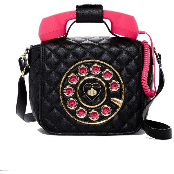 Betsey Johnson Quilted Phone Crossbody Bag (747.480 IDR) ❤ liked on Polyvore featuring bags, handbags, shoulder bags, black, fold over crossbody purse, quilted crossbody purse, betsey johnson purses, fold over crossbody and quilted cross body purse