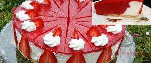 Erfrischende Erdbeertorte ohne Backen