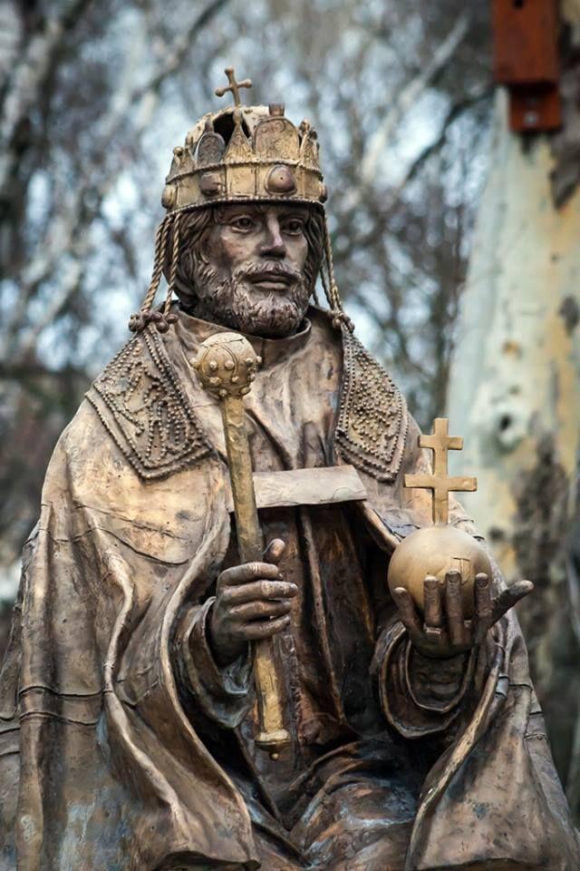 Szent István szobor Mór - Hungary. Foto: Tibor Dezső