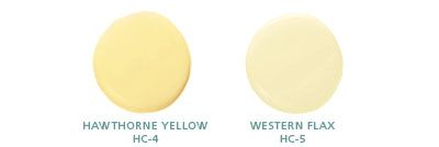 Benjamin Moore: Hawthorne Yellow HC-4, Weston Flax HC-5