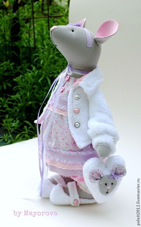 Интерьерная игрушка Мышка Vanilla dream / Ванильная мечта - бледно-розовый