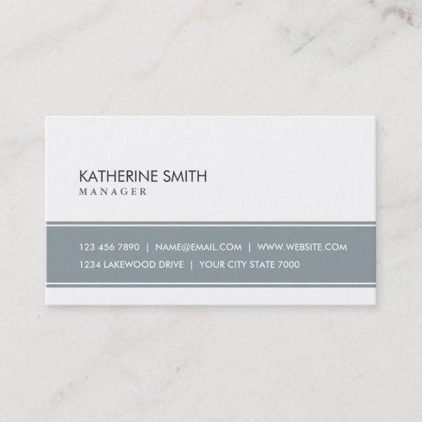 White Professional Plain Elegant Modern Simple Business Card Zazzle Com Printing Business Cards Modern Business Cards Simple Business Cards