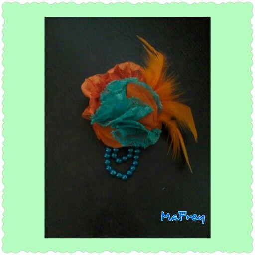 #handmade #accessories #orange #tusca #brooch