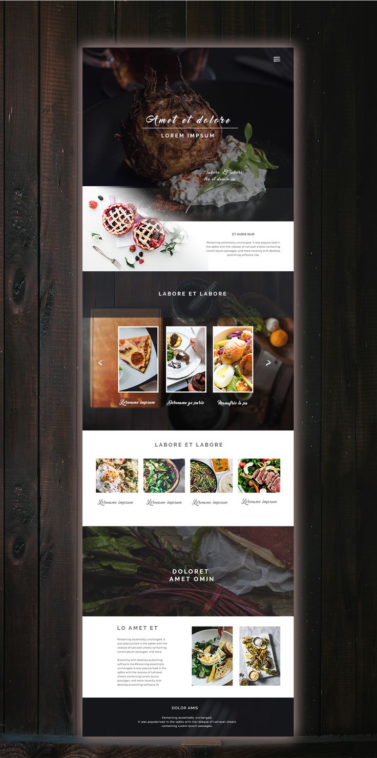 """Check out this @Behance project: """"Food website""""…"""