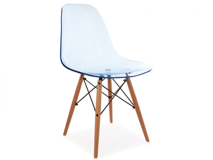 Chaise Eames DSW - Bleu transparent 125€