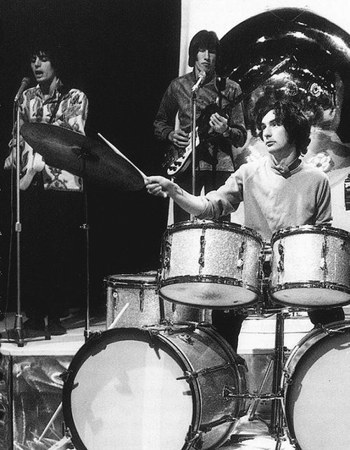 """One of the three TOTP performances - Pink Floyd """"See Emily Play"""" July, 1967. I'm guessing this is #2 by the descriptions I've read of Syd's clothing and demeanor. #1 is the performance where the video has been rediscovered."""