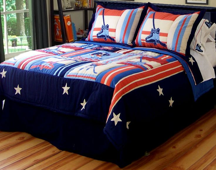 Ice Hockey Bedrooms For Teens | ... action on the ice in ...