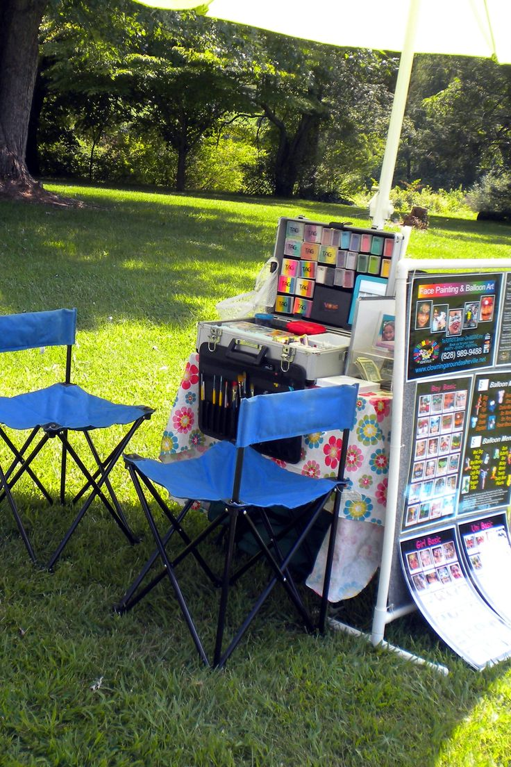 Outside Compact Setup for Face Painting & Balloon Twisting