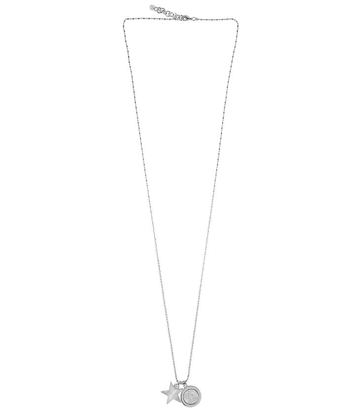 Een subtiele collier van TOV essentials! De ketting heeft een karabijnslotje en een klein verstelkettinkje. Aan de ketting hangen twee prachtige bedels: een ster en een TOV Essentials embleem met aan de achterkant een Boeddha.