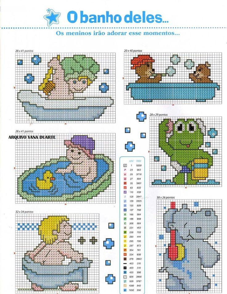 Todo para Crear ... : diseños de punto cruz para bebe