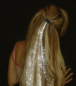 Light up your hair with Glowbys! Like stars, Glowbys shine more brightly the darker it gets. Great for Prom, parties, nightlife, holidays, concerts, performances, weddings - any nighttime event!Styling illuminating hair strands Illuminating hair strands come in a cascade cut pattern, but they can be arranged in almost any pattern depending on the your hair style. Use your imagination