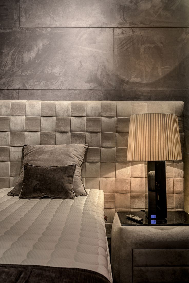 Revolution Bed, Rounded Bedside Table and Reflection Table Lamp by Colunex @ Paris - Maison et Objet Jan. 2017
