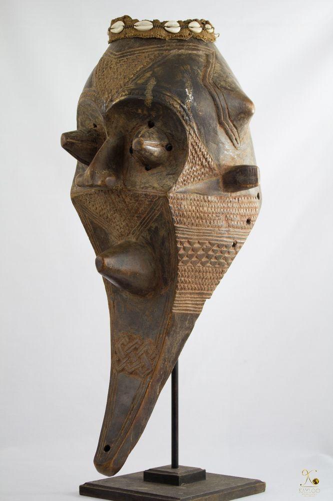 Kuba Kete (Inhuba Kabongo) African Mask - Congo DRC